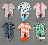 Wholesale Newborn Baby Rompers Elastic Sports Jacket Baby Multi Color Clothing Before Climbing Zipper To Open Package Open Fart Clothing