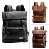 Wholesale Designer Mens Backpacks High Quality PU Leather Laptop Runsack School Bag Colors Drop Shipping