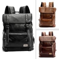 Wholesale Designer Mens Backpacks High Quality PU Leather Laptop Runsack School Bag Colors Drop Shipping