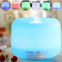 Wholesale Warm Light Colorful LED Mhz Ultrasonic ML Aroma Diffuser Atomizer New Air Humidifier
