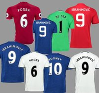 Wholesale new Rooney Soccer Jersey Zlantan Ibrahimovic Jersey Paul Pogba Mkhitaryan Football Shirt Martial Camiseta de futbol Maillot