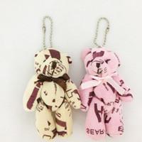 bear toy bag - New Design cm Cloth Letter Teddy Bear Joint Bow Bear Plush Pendants Toys Dolls For Key chain Phone Bag