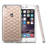 beehive cover - New Clear TPU Case For iPhone s inch Beehive Honeycomb Diamond Rhombic Transparent Shockproof Back Plus Silicone Soft Cover Cases