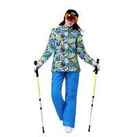 Wholesale Wild Snow Cheap Ski Suit Women Winter Suit Snowboarding Suits Winter Jacket Pants Women Skiing Jacket Waterproof Snow Coat Bib