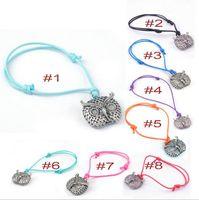 big friendship bracelet - Bracelets for women NEW Jewelry metal owl big Pendant Retro rope chain friendship bracelets charm gift Children Bracelets popular