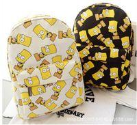 bart halloween - New Hot sale Cartoon Simpson bart man print backpacks canvas male female students school backpack shoulder bags