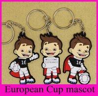 2016 Llavero Europea Francesa de la mascota de la Copa de PVC Fans regalos promocionales recuerdos del anillo dominante de la Liga de Campeones de fútbol clave Cadenas