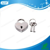 best padlocks - AJF Silver heart shaped padlock A01 HW S is the best gift in Valentine s Day