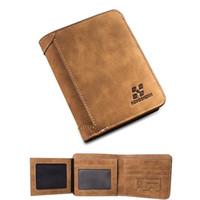 american sim cards - Men Wallets Famous Brand PU Leather Wallet Men Card Holder With Photo Pocket Short Vintage Design Wallet Purse For Male SIM card