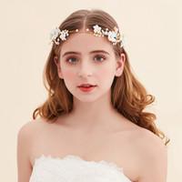 best silk hair flowers - Best Selling Cheap Bridal Fascinators Head Pieces Flower Pearl Crystal Bridal Headbands Tiaras Crowns Wedding Hair Accessories