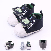 baby hippos - New Arrival Canvas Sport Shoes Hippo Pattern Anti slip Toddler Baby Walking Shoes For Girl and Boy Casual Shoes Retail