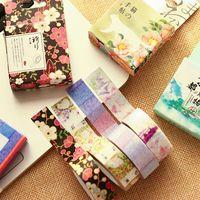 Wholesale 6 Misstime paper masking tapes Japanese washi tape DIY scrapbooking sticker Stationery School supplies papeleria