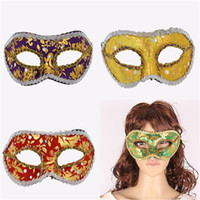 band back patches - Halloween Plastic Masks for Adult Unisex Fashion Christmas Mardi Gras PVC Masquerade Flat Cloth Band Edge Fancy Masks Cosplay Party Patch