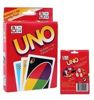 Wholesale Stock ready Sets UNO poker card standard edition family fun entertainment board game Kids funny Puzzle game By DHL