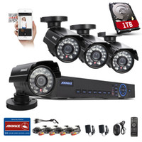 Wholesale ANNKE CH H HDMI DVR TVL IR CCTV Home Surveillance Security Camera System With TB HDD