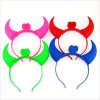 Wholesale Halloween Glowing horns on the head Plastic horns Hair bands Hair accessories Children s toys Suitable for large parties Party festivals