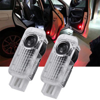 audi projector headlights - 2pcs Shadow LED Car Door Logo Welcome Projector Light Lamp for Audi A4 A6 A8 hot selling