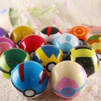 Wholesale Elf Balls ABS Poke Balls cm Cartoon Pikachu PokeBall Styles Multicolor Magic Balls Game Balls Kids Toys Gift