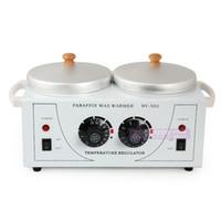 venda por atacado paraffin wax heater-aquecedor de parafina 110V-240V cera aquecedor dupla pot cera quente máquina de venda por atacado para salão de beleza uso spa