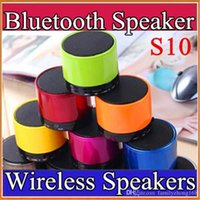 b speakers - S10 Bluetooth Speaker Outdoor Speakers Handfree Mic Stereo Portable Speakers TF Card Call Function DHL No Logo Retail Box B YX