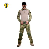 Wholesale US Tactical Ghillie Suits Camouflage Military Uniform Army Suit Combat Shirt Multicam Knee Pad Pants Paintball Hunting Clothes