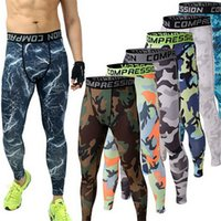 Wholesale Mens Joggers GYM Compression Pants Running Tights Men Camouflage Sport Training Leggings Crossfit Trousers