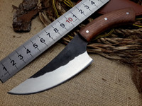 Wholesale DX Version very sharp High carbon steel Hand made fixed hunting knife HRC Rosewood handle survival camping tactical rescue tools