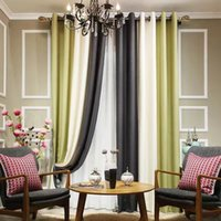 Wholesale Light blocking window curtain with heavy Splicing cloth best selling in Summer multi color to enrich your living room