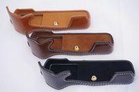 bag e bottoms - Camera Bag Bottom Case For Olympus E M5II EM5II EM5 MarkII PU Leather Half Body Set Cover With Strap