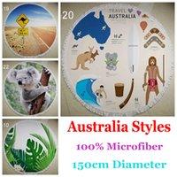 beach towels australia - Australia Styles Microfiber Round Beach Towel With Tassels Bath Towels Summer toallas Swimming Sunbath serviette de bain
