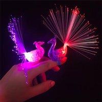 Wholesale LED Peacock Finger Lamp Toys Led flash lamp finger ring lights led flashing ring party kids toys
