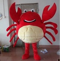 Wholesale 2016 Hot sale Red crab Mascot Costume Halloween Christmas Birthday Props Costumes Fancy Dress