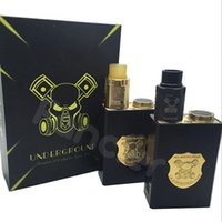 Wholesale 2016 Vaporizer Underground Box Mod Kit Mech Mod Gold Black Colors Fit Battery Thread Fit RDA Atomizer Mechanical Mod