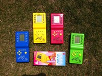 Wholesale Tetris Brick Handheld Game Toy HandHeld LCD Electronic Game Triple Tetris Brick Game Sliding Blocks for kids