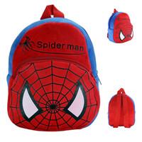 Wholesale Baby Plush Backpacks kids cartoon shoulder bag Captain American Superman Minions Children school bag kindergartener Baby small backpack B871