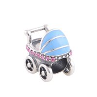 baby bead bracelets - 5 pieces baby car charms authentic sterling silver fits for pandora style charms bracelets D032H5