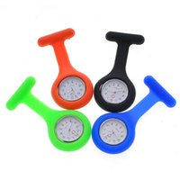 Wholesale Fashion Nurse Medical Watch Silicone Clip Pocket Watches Colorful Brooch Fob Tunic Cover Doctor Silicon Quartz Watches