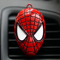 auto vent shield - 2016 New Iron Man Captain America shield Car outlet perfume original auto perfumes Air Freshener Car Air Conditioning Vent Clip