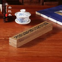 Wholesale Wood carving wood crafts wooden rectangular tangcao incensory incense line pattern box