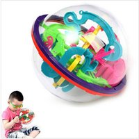 Wholesale Hot D Magic Intellect Maze Ball Toys Kids Children Balance Logic Ability Puzzle Game Educational Training Tools Free shopping
