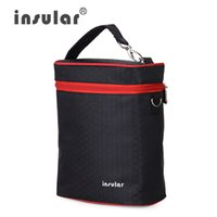baby bottle coolers - Fashion Brand Insular D Nylon Baby Feeding Bottle Insulation Bags Thermal Bottle Bags Cooler Bags