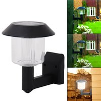 auto yard - Solar Wall Light lamp Auto Sensor Fence LED Garden Yard Fence Lamp Outdoor LEG_20C
