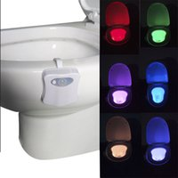 Wholesale Motion Activated Human Body Sensor LED Toilet Light Battery Operated Bathroom Night Toilet Bowl Light