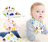 baby nurses - Baby Bibs Towel Bandanas Triangle Burp Saliva Burp Saliva Infant Toddler Bandana Scarf Double Layers Kids Nursing Bibs design KKA228