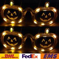 Wholesale 2016 New LED Pumpkin Glasses Halloween Flashing Glasses Christmas Party Glow Halloween Glasses XMAS Toys WX C31