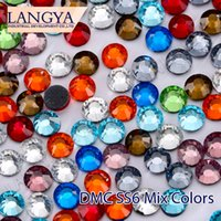 Wholesale Mixed Colors DMC Flatback Loose SS6 Hotfix Rhinestones For Clothing Accessories