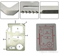 Wholesale Function Outdoor Camping Hiking Survival Pocket Card Kit Army Multi Tools