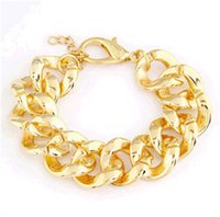 acrylic lucite table - Bracelet female T table exaggerated wild metal chain bracelet fashion jewelry F102