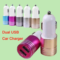 Wholesale For S7 USB Car Charger Mini Portable Charger Universal Adapter For iPhone iPad Samsung S7 Huawei P9 without Package DHL Free CAB145