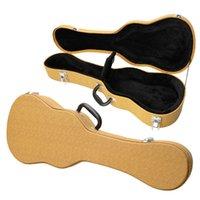 Wholesale New quot Tenor Artificial Leather Ukulele Uke Hawaiian Guitar Case Yellow